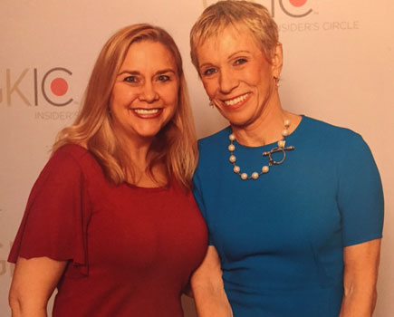 Becky with Barbara Corcoran, Shark Tank