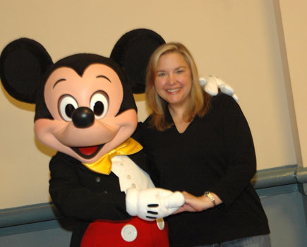 Becky and Mickey Mouse