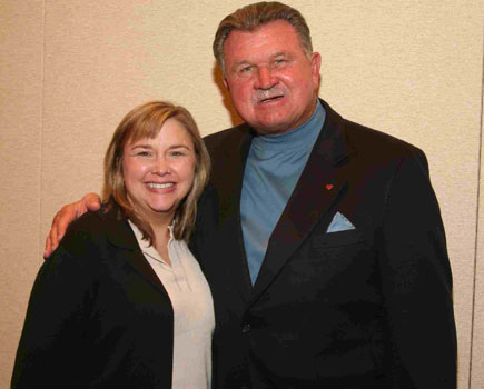 Becky and Mike Ditka, NFL Coach